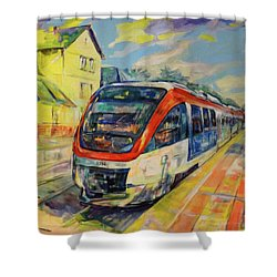Regiobahn Mettmann Shower Curtain by Koro Arandia