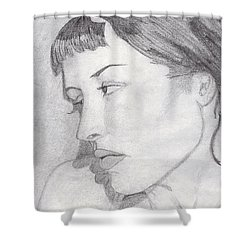 Regret Shower Curtain by Jean Haynes