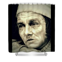 Regret Scrooge Shower Curtain by Fred Larucci