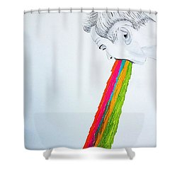 Regurgitate Shower Curtain