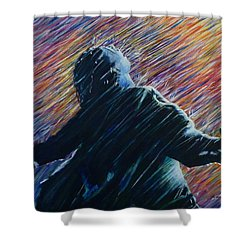 Shower Curtain featuring the painting Reign O'er Me by Amelie Simmons