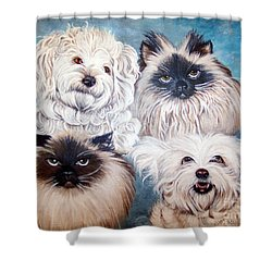 Reigning Cats N Dogs Shower Curtain