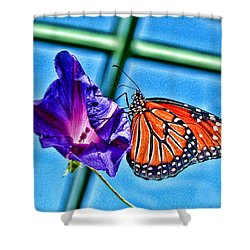 Reigning Monarch Shower Curtain