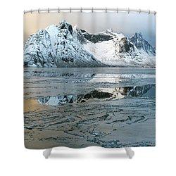 Reine, Lofoten 5 Shower Curtain by Dubi Roman