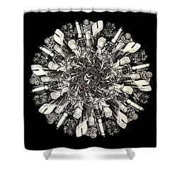 Reinventing The Wheel Shower Curtain