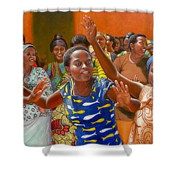 Rejoice Shower Curtain by Donelli  DiMaria