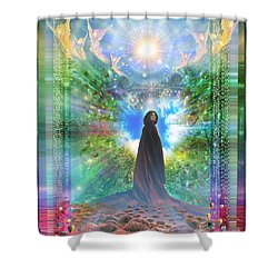 Rejoice-thy-young Shower Curtain