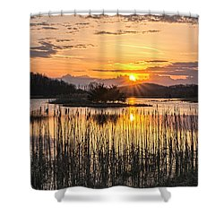 Rejoicing Easter Morning Skies Shower Curtain