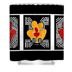 Relationship Goals Shower Curtain by Diamin Nicole