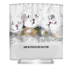 Relatives Shower Curtain