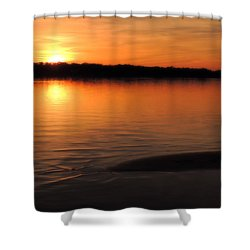 Relax And Enjoy Shower Curtain by Teresa Schomig