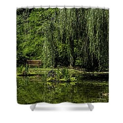 Relax By Pond Shower Curtain