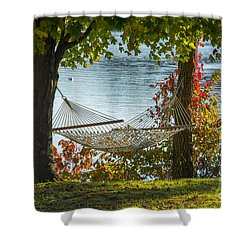 Relax By The Water Shower Curtain