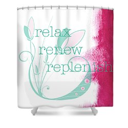 Relax  Shower Curtain by Kandy Hurley