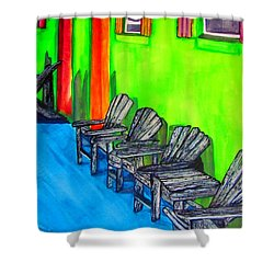 Relax Shower Curtain by Lil Taylor
