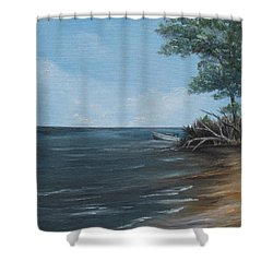Relaxation Island Shower Curtain