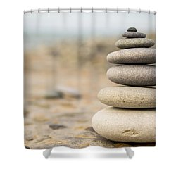 Shower Curtain featuring the photograph Relaxation Stones by John Williams