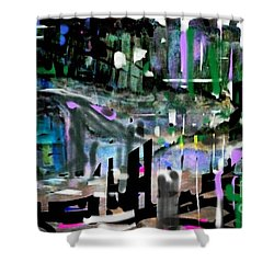 Relaxed Evening At The Pool Club Shower Curtain
