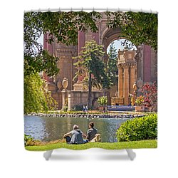 Shower Curtain featuring the photograph Relaxing At The Palace by Kate Brown