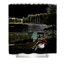 Shower Curtain featuring the photograph Relaxing By Moonlight by David Patterson