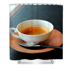 Relaxing Coffee Time Shower Curtain