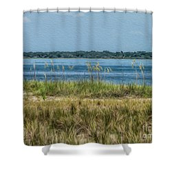 Relaxing On The Island Shower Curtain