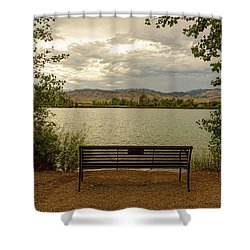 Shower Curtain featuring the photograph Relaxing View by James BO Insogna