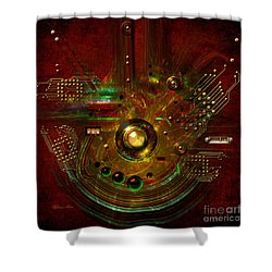 Shower Curtain featuring the painting Relay by Alexa Szlavics