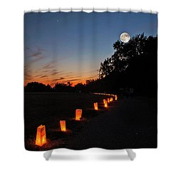 Relay  For Life Shower Curtain