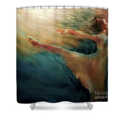 Shower Curtain featuring the painting Releasing Of The Soul by FeatherStone Studio Julie A Miller