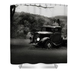 Shower Curtain featuring the photograph Relic Truck by Bill Wakeley