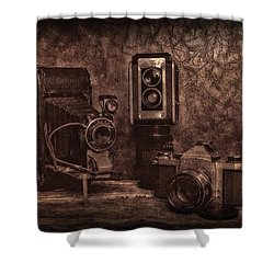 Shower Curtain featuring the photograph Relics by Mark Fuller