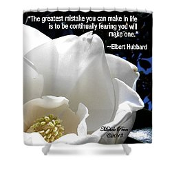 Relief 2, With Quote.  Shower Curtain