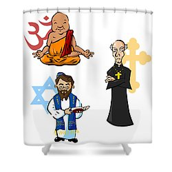 Religious Icons Shower Curtain by Whitney Morton