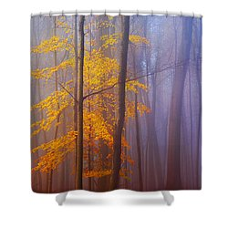 Remaining Yellow Shower Curtain