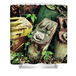 Remains Of The Day - Camp Mountain Lake Shower Curtain