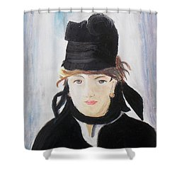 Remake Portrait Of Berthe Morisot Shower Curtain