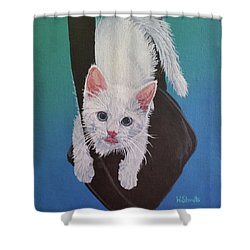 Shower Curtain featuring the painting Rembrandt Justa Swingin by Wendy Shoults