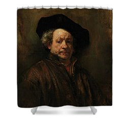 Shower Curtain featuring the painting Rembrandt Self Portrait by Rembrandt van Rijn