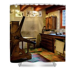 Shower Curtain featuring the photograph Rembrandt's Former Graphic Workshop In Amsterdam by RicardMN Photography