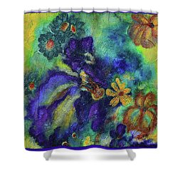 Remember The Flowers Shower Curtain by Donna Blackhall