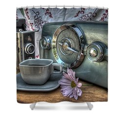 Remember The Past Shower Curtain by Jane Linders