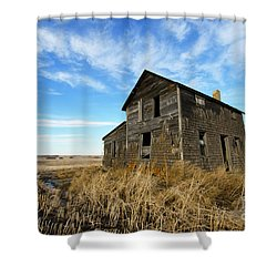 Shower Curtain featuring the photograph Remember The Past Work For The Future 2 by Bob Christopher