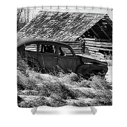 Shower Curtain featuring the photograph Remember The Past Work For The Future by Bob Christopher