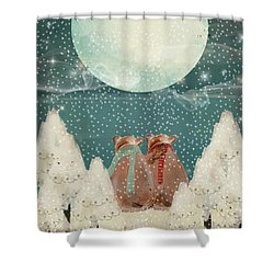 Shower Curtain featuring the painting Remember The Time by Bri B