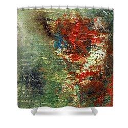 Remembering J. T.  Acrylic Original #5 Shower Curtain