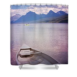 Shower Curtain featuring the photograph Remembering Lake Mcdonald by Heidi Hermes