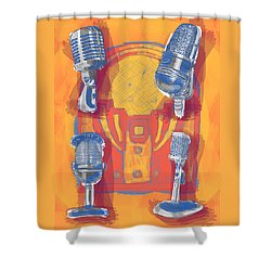 Remembering Radio Shower Curtain