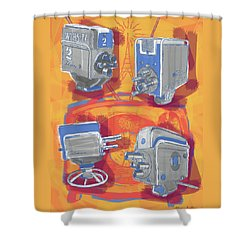 Remembering Television Shower Curtain