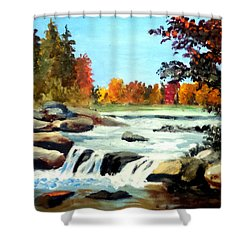 Remembering The Little Broad River Shower Curtain by Jim Phillips